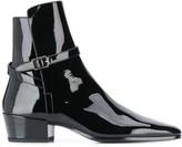 Saint Laurent buckle strap ankle boots