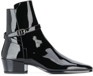 Saint Laurent Clementi buckle strap ankle boots