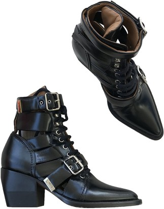 Chloé Rylee Black Leather Ankle boots