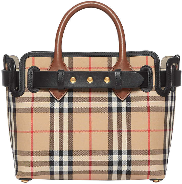 483fa6c0f Burberry Check Satchel - ShopStyle
