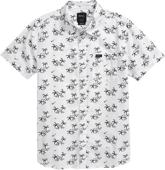 RVCA Easy Palm Print Button-Up Shirt