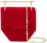 M2Malletier mini Amor Fita shoulder bag - women - Brass/Velvet - One Size
