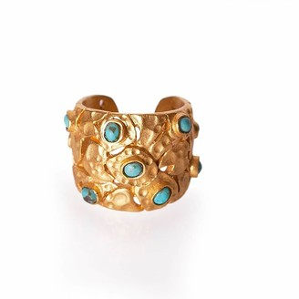Christina Greene Confetti Ring in Turquoise