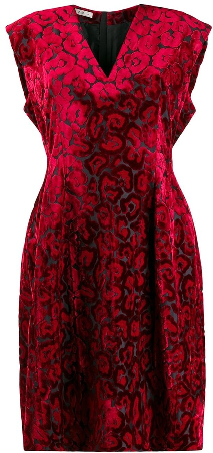 Thumbnail for your product : Prada Pre-Owned 2000's Leopard Pattern Dress