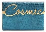 Charlotte Olympia Cosmic Vanina Metallic Embossed Leather Clutch