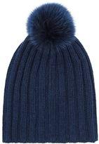 Harrods Ribbed Knit Bobble Hat