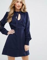 Adelyn Rae Keyhole Neck Dress