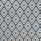 KOVI Indigo Diamond Geometric Dot Woven Cotton Upholstery Fabric by the yard