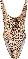 Norma Kamali Marissa Leopard-print Swimsuit - Light brown