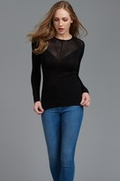 Dynamite Long Sleeve Sweater with Open Stitch