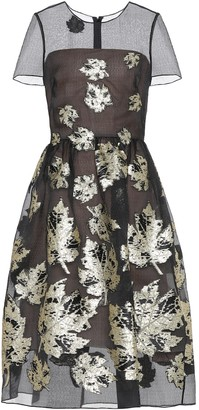 Oscar de la Renta Fil coupe silk-blend dress