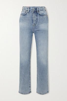 Acne Studios + Net Sustain High-rise Straight-leg Jeans - Light denim