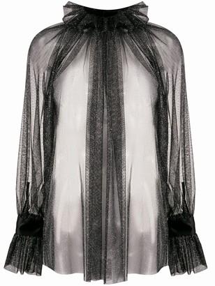 Styland Shimmer Sheer Blouse