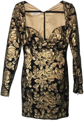 House Of CB Gold Velvet Dress for Women