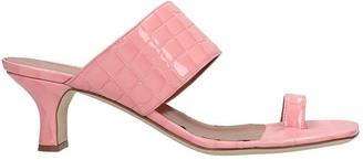 Paris Texas Sandals In Rose-pink Leather