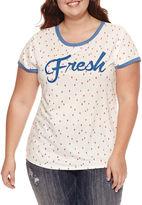 Arizona Short Sleeve Plus Size Graphic Ringer T-Shirt