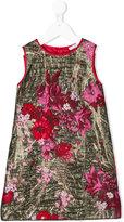 Dolce & Gabbana embroidered floral dress - kids - Silk/Polyamide/Polyester/Viscose - 6 yrs
