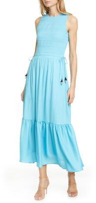 Dolan Marissa Smocked Bodice Ruffle Hem Dress