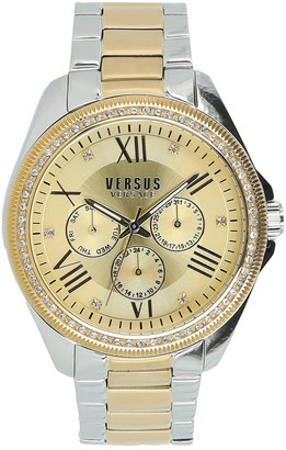 Versus Women's Elmont Swarovski Crystal Accent Two-Tone Bracelet Watch, 40mm