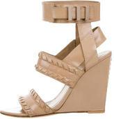 Alexander Wang Patent Wedge Sandals