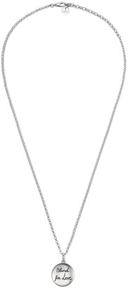 "Gucci ""Blind For Love"" necklace in silver"