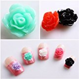 350buy 20pcs New Colorful Acrylic 3D Rose Flower Slices UV Gel Nail Art Tips DIY Decorations