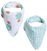 Bebe Au Lait Infant 2-Pack Muslin Bibs