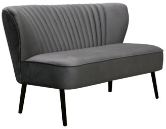 Darcy And Duke Coco Velvet Two Seater Sofa Charcoal