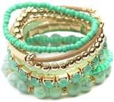 Riah Fashion Multicolor Beaded Stretch Bracelet