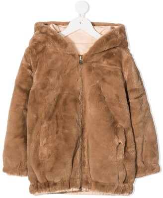 Chloé Kids Hooded Zip-Up Jacket