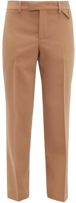 Bottega Veneta Tailored Wool Straight-leg Trousers - Womens - Camel