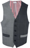 Thom Browne colour block waistcoat - men - Cupro/Cashmere/Wool - 1