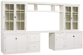 Pottery Barn Logan Desk with Bookcase Suite & Bridge