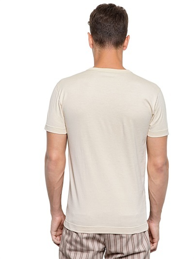 Dolce & Gabbana Temple Printed Cotton Jersey T-Shirt