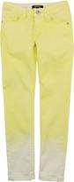DKNY Skinny fit Tie Dye yellow jeans