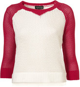 Topshop Knitted Mesh Sweat Jumper