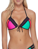 Body Glove Baby Love Colorblocked Halter Bikini Top