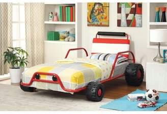 Hokku Designs Jaymes Twin Car Bed Color: Red