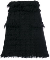 MSGM tweed mini A-line skirt