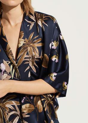 Tropical Garden Satin Pajama Shirt