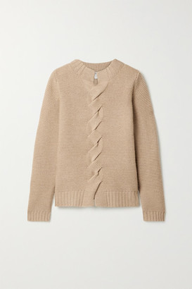 Max Mara Albania Wool And Cashmere-blend Sweater - Camel