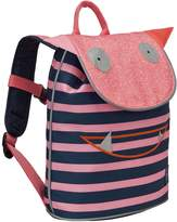 Lassig Kids Cute Duffle Backpack Big for Pre-School or Kindergarten with name badge, Little Monsters-Mad Mabel