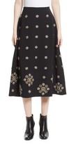 Elizabeth and James Women's Lottie Embellished Midi Skirt