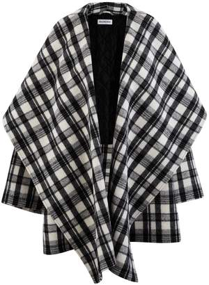 Balenciaga Wool coat with stand-up collar