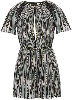 M Missoni Cutout Metallic Crochet-knit Mini Dress