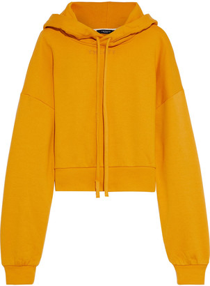 Twenty Montreal Cropped French Cotton-blend Terry Hoodie