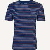 Fat Face Indigo Super Fine Stripe T-Shirt