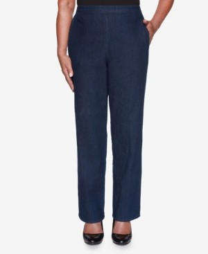 Alfred Dunner Women's Missy Hunter Mountain Denim Proportioned Short Pant