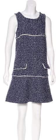 Chanel Sleeveless Tweed Dress