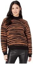 WAYF Vincent Intarsia Sweater (Black/Camel Tiger) Women's Sweater